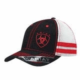 Ariat Logo Black/Red Baseball Cap 1594201