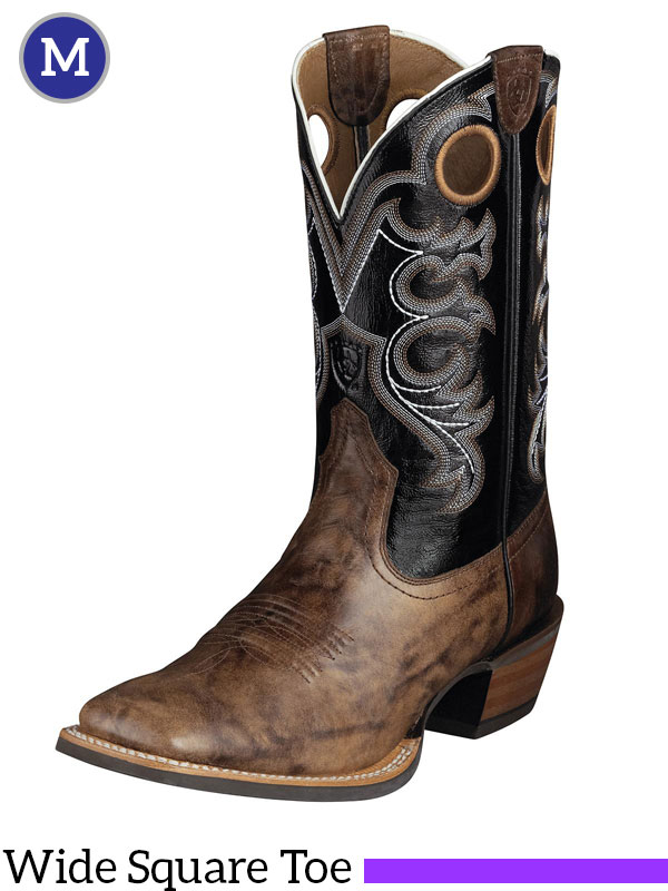 Ariat Men's Crossfire Boots Wide Square Toe Weathered Buckskin ...