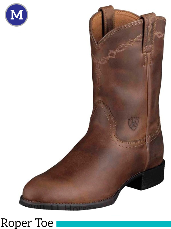 Men's Heritage Roper Boots Roper Toe Distressed Brown 10002284