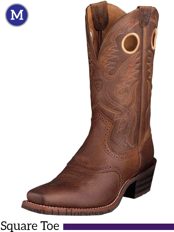 Men S Ariat Heritage Brown Oiled Rowdy Roughstock Boots