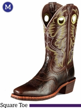 Ariat Men's Heritage Roughstock Boots Square Toe Thunder Brown 10007850