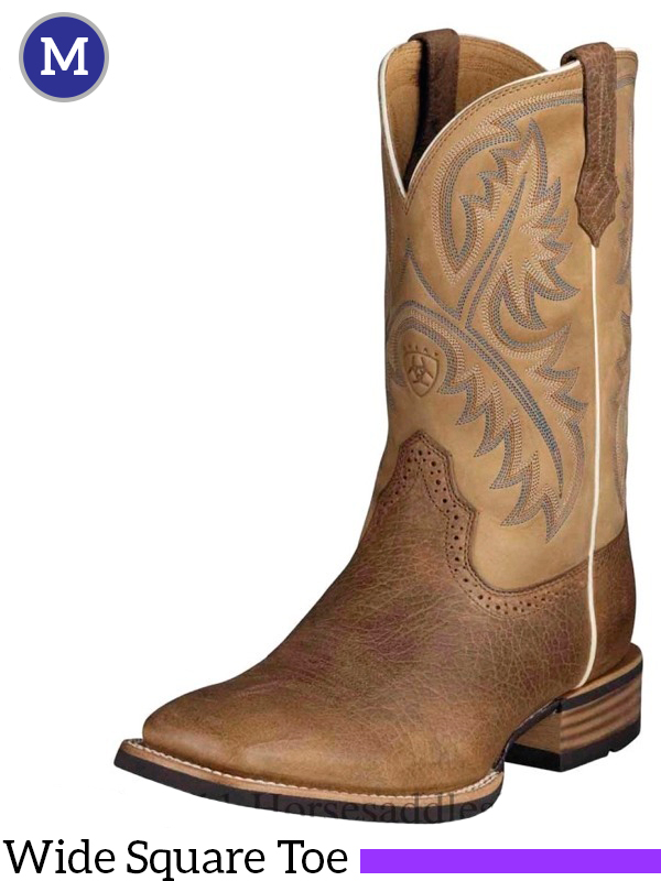 Men's Quickdraw Boots Wide Square Toe Tumbled Bark 10002224