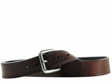 Ariat Mens Textured Triple Stitched Brown Belt A10004630
