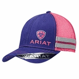 Ariat Purple/Pink Logo Mesh Baseball Cap 1595516