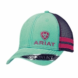 Ariat Turquoise/Purple Logo Mesh Baseball Cap 1595633