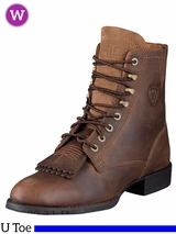 Ariat Women's Boots Heritage Lacer II U Toe Distressed Brown 10002147