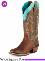 Ariat Women's Caballera Boots Wide Square Toe 10007852