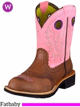 Ariat Women's Fatbaby Cowgirl Boots Fatbaby Toe Roughed Chocolate 10006855