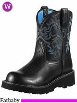 Ariat Women's Fatbaby Original Boots Black Deertan 10000833
