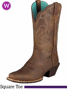Ariat Women's Legend Boots Square Toe Distressed Brown 10001053