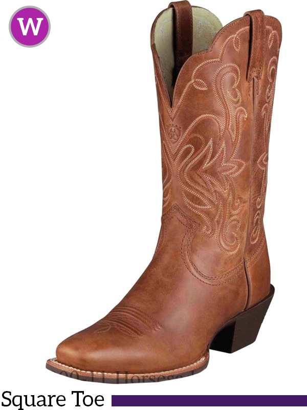 Unique ARIAT WOMENu0026#39;S ROUND UP WIDE SQUARE TOE BOOT - STYLE #10016317