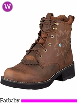 Ariat Women's Probaby Lacer Boots Fatbaby Toe 10001090