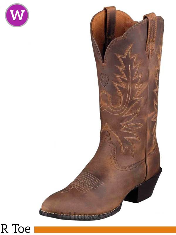 Women S Ariat Heritage Distressed Brown Boots 10001021