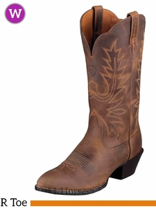 Ariat Women's Western Heritage R Toe Boots Distressed Brown 10001021