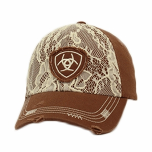 Ariat Womens Brown and Lace Ball Cap 1514802