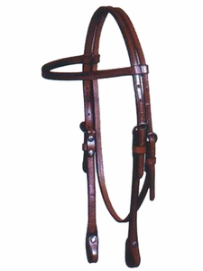Big Horn 2brown browband Headstall hsbh3519