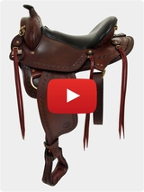 Big Horn Western Flex Gaited Saddle 1684 / 1686 Review Video