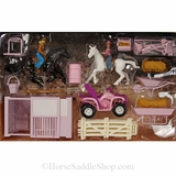 Bigtime Barnyard Pink 4 Wheeler and Stable Set 50820
