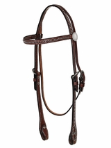 "Billy Cook Headstall 5/8"" Brow w/ Spots And Conchos 11-508"