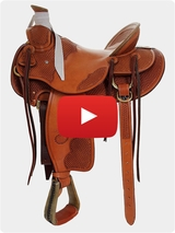 Billy Cook Wade Tree Ranch Saddle 2181 Review Video