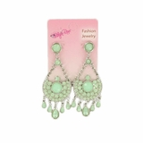 Blazin Roxx Mint Teardrop Chandelier Earrings 30432