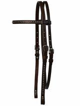 "Circle Y 5/8"" Browband with Spot Accents 0125-52"