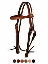 Circle Y Border Tooled Broadband Headstall 100-69