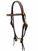 Circle Y Brass Spotted Headstall 197-8331