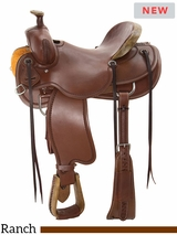 "** SALE ** 15"" to 17"" Circle Y Camo Border Ranch Saddle 1131 w/$105 Gift Card"