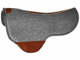 Just-B-Natural Dropped Front Round Skirt Felt Pad by Circle Y 73 CLEARANCE