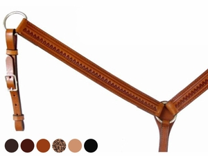 Circle Y Shell Tooled Breast Collar 428020