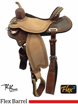"13"" to 17"" Circle Y Kelly Kaminski Studded Croc Flex2 Barrel Racer 1539"