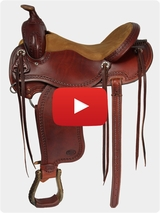 Courts Saddlery Trail Saddle 8716VB Video Review