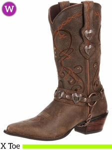 Women's Durango Crush Brown Heartbreaker Boots RD4155