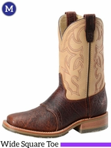 Men's Double-H Domestic Bison Wide Square Toe ICE Roper DH4305