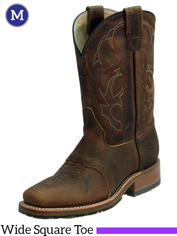 Double-H Domestic Wide Square Toe ICE Roper Boots DH3560