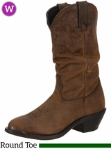 Women's Durango Distressed Tan Slouch Boots RD542