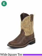 Justin Boots Kid's Buffalo Brown Stampede Boots 4683JR