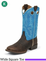 Justin Boots Kid's Chocolate Buffalo Bent Rail Boots 377JR