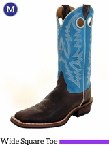 Justin Boots Men's Bent Rail Chocolate Puma Boots BR377 ZDS