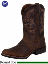 Justin Boots Men's Dark Brown Stampede Rawhide Boots 7200