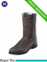 Justin Boots Men's Farm & Ranch Crazy Cow Boots JB3001 CLEARANCE