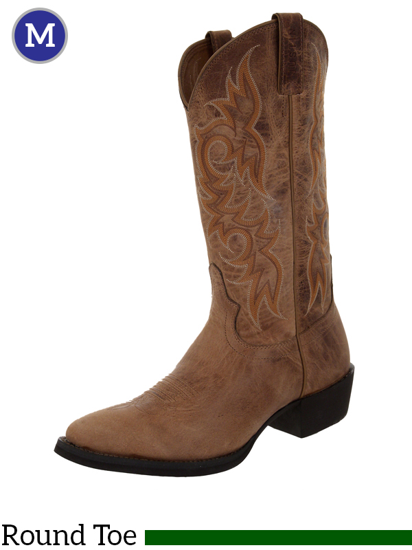 Justin Boots Men S Stampede Western Tan Puma Cow Boots 2555