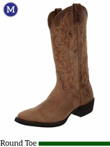Justin Boots Men's Stampede Western Tan Puma Cow Boots 2555