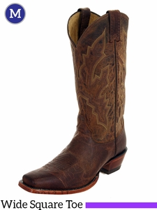 Justin Boots Men's Tan Distressed Vintage Goat Boots 2680