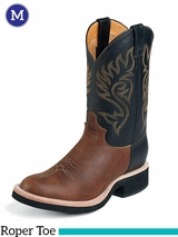 Justin Boots Men's Western Coffee Westerner Boots 5008