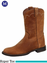 Justin Boots Mens Tan Apache Stampede Roper Boots 3902