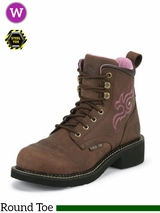 Justin Boots Women's Aged Bark Gypsy Steel Toe Work Boots WKL991