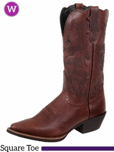 Justin Boots Women's Dark Brown Mustang Cowhide Boots L2559