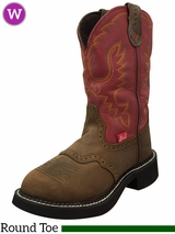 Justin Boots Women's Red Burnished Calf Gypsy Boots 9921
